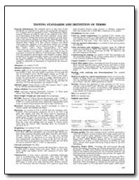 Testing Standards and Definition of Term... by Federal Depository Library