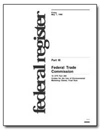 Federal Trade Commission 16 Cfr Part 260... by Frankle, Janice Podoll