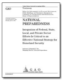 National Preparedness Integration of Fed... by Yim, Randall A.