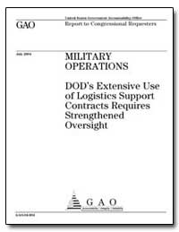 Dod's Extensive Use of Logistics Support... by General Accounting Office