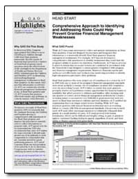 Comprehensive Approach to Identifying an... by General Accounting Office