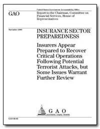 Insurers Appear Prepared to Recover Crit... by General Accounting Office
