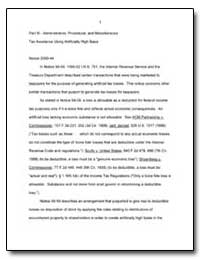 Part Iii. Administrative, Procedural and... by United States Department of the Treasury