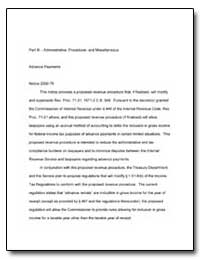 Part Iii. B Administrative, Procedural a... by United States Department of the Treasury