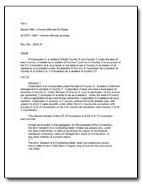 Section 894. - Income Affected by Treaty... by United States Department of the Treasury