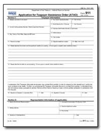 Application for Taxpayer Assistance Orde... by United States Department of the Treasury
