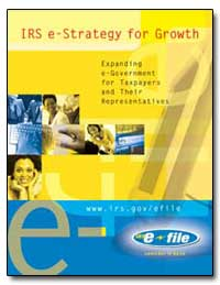 Irs E-Strategy for Growth by United States Department of the Treasury