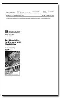 Tax Highlights for Persons with Disabili... by United States Department of the Treasury