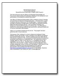 Internal Revenue Service Pre-Solicitatio... by United States Department of the Treasury