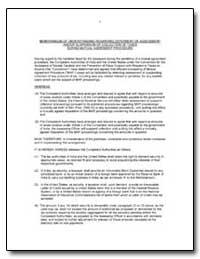 Memorandum of Understanding Regarding De... by United States Department of the Treasury