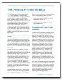Viii. Planning, Priorities and Risks by United States Department of the Treasury