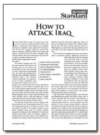 How to at Tack Iraq by New American Century