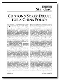 Clinton's Sorry Excuse for a China Polic... by Kagan, Robert
