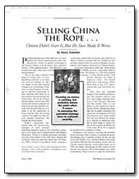 Selling China the Rope by Sokolski, Henry