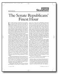 The Senate Republicans Finest Hour by Kagan, Robert