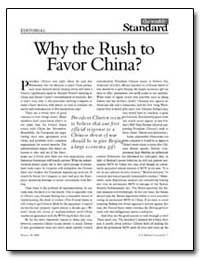 Why the Rush to Favor China by New American Century