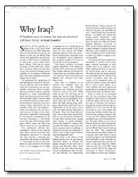 Why Iraq If Saddam Stays in Power, The W... by Schmitt, Gary