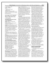 Part 535Iranian Assets Control Regulatio... by United States Department of the Treasury