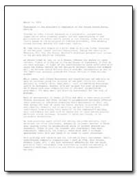 Submission to the President's Commission... by United States Department of the Treasury