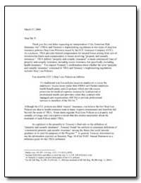 Terrorism Risk Insurance Act1 by Bragg, Jeffrey S.