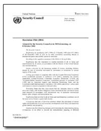 Resolution 1566 (2004) Adopted by the Se... by United States Department of the Treasury