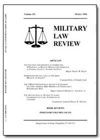 Military Law Review-Volume 151 by Jones, John B. Jr., Captain