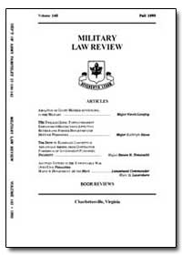 Military Law Review-Volume 142 by Risch, Stuart W., Captain