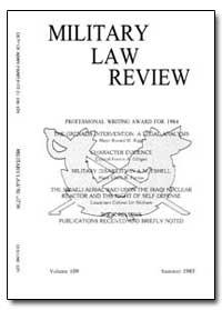 Military Law Review-Volume 109 by Kaczynski, Stephen J., Captain