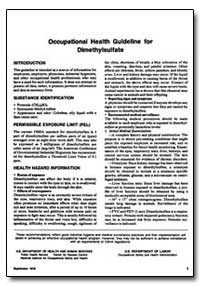 Occupational Health Guideline for Dimeth... by Department of Health and Human Services