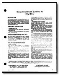 Occupational Health Guideline for Ethl F... by Department of Health and Human Services