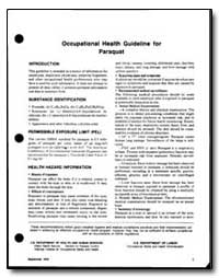 Occupational Health Guideline for Paraqu... by Department of Health and Human Services