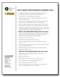 Facts about Noise-Induced Hearing Loss by Department of Health and Human Services