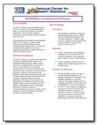 Nchs Data on Alzheimer's Disease by Department of Health and Human Services