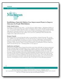 Michigan : Establishing a Statewide Diab... by Department of Health and Human Services