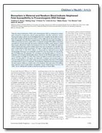 Biomarkers in Maternal and Newborn Blood... by Tang, Deliang