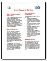 Urban Research Centers by Department of Health and Human Services