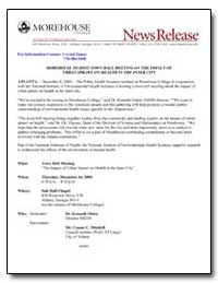 Morehouse to Host Town Hall Meeting on t... by Olden, Kenneth, Ph. D.