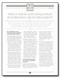Policy Issues and Challenges in Substanc... by Department of Health and Human Services