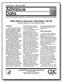 Office Visits for Glaucoma : United Stat... by Schappert, Susan M.