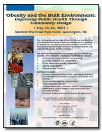 Obesity and the Built Environment : Impr... by Department of Health and Human Services