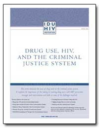Drug Use, Hiv, And the Criminal Justice ... by Department of Health and Human Services