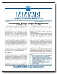 Fatal Degenerative Neurologic Illnesses ... by Gerberding, Julie Louise, M. D., M. P. H.