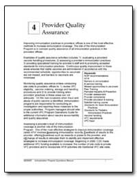 Provider Quality Assurance by Department of Health and Human Services