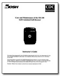 Care and Maintenance of the Sr 100 Salf ... by Department of Health and Human Services