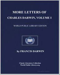 More Letters of Charles Darwin Volume 1 by Darwin, Charles