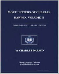 More Letters of Charles Darwin Volume Ii by Darwin, Charles