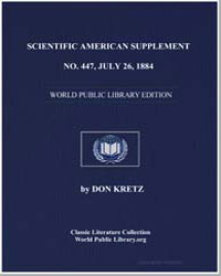 Scientific American Supplement, No. 447,... by Various