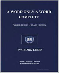 A Word Only a Word by Ebers, Georg