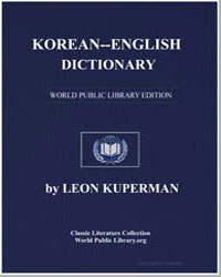 Korean-English Dictionary by Kuperman, Leon