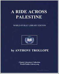 A Ride Across Palestine by Trollope, Anthony